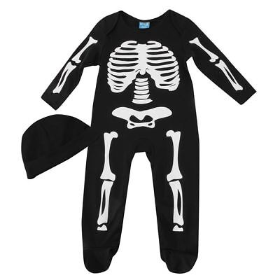 Skeleton Halloween BOYS GIRLS KIDS BABY GROW COSTUME FANCY DRESS 18-24 MONTH New