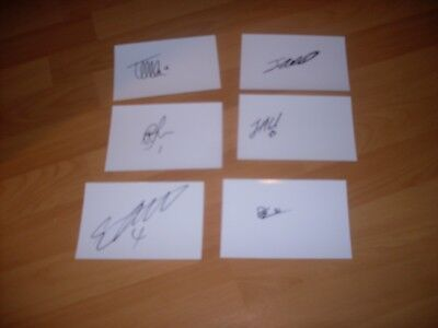 6 signed cards of lincoln city championship winning side