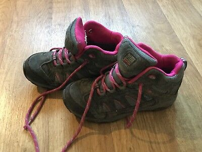 Karrimore Size 3 Junior Outdoor Hiking Water Proof Trainer Boots Grey/Pink