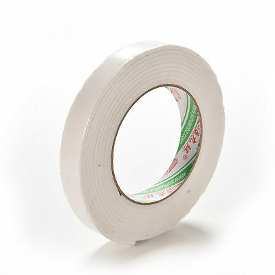 Double Sided White Foam Sticky Tape Roll Adhesive Super Strong easy MW