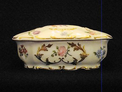 Charles Ahrenfeld Limoges Porcelain China Hand Painted & Gilt Decorated Box 1898