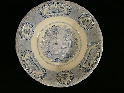 "Staffordshire Transferware Ridgways ""Oriental"" Round Open Serving Bowl 8"" dia"