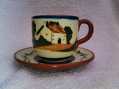 Devon/Torquay Ware. Watcombe pottery.Motto ware.Cofee/Tea cup. Hand painted.Old