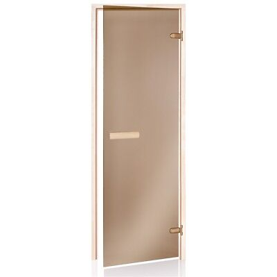 Sauna door bronze glass