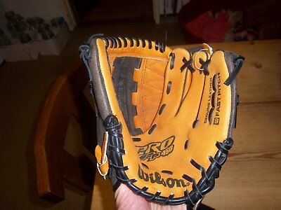"Wilson Pro Fp 450 Baseball Softball Glove Mitt 11"" Left Hand Leather Monstaweb"