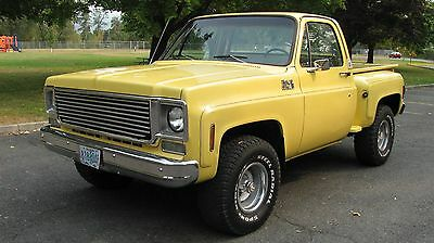 1977 Chevrolet C-10 High Sierra Classic 1977 77 75 76 78 CHEVY K10 4X4 PICKUP SHORT BED STEPSIDE SOLID WEST COAST TRUCK
