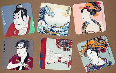 CP AIR AIRLINE ORIENT EXPRESS -  6 Japanese Fine Art UKIYOE COASTERS