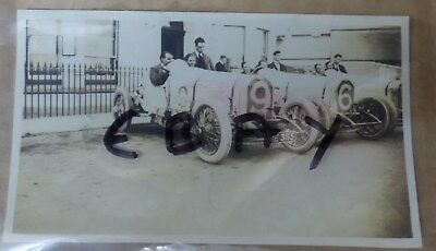 Rare Photo 1922 Tourist Trophy Race Isle Of Man Wo Bentley In 3 Litre No 9