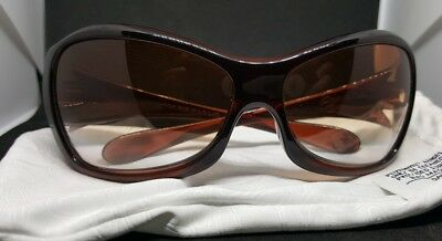 Women's Oakley Grapevine Brown Frame Gradient Lenses Fashion Sun Glasses w/ Case