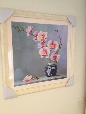 Cross stitch Completed Framed Handmade, Tapestry, Wall Hanging,Wall Picture.