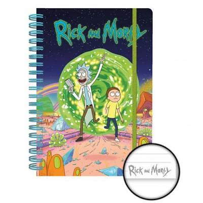 Rick And Morty Notebook Hardback Lined Fan School Gift Official Licensed Product
