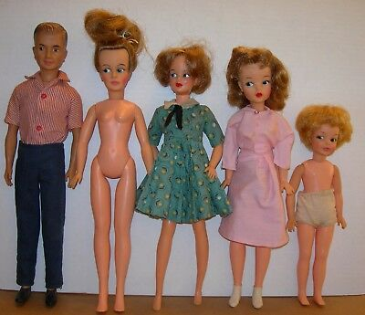 Vintage Ideal Tammy Doll Family