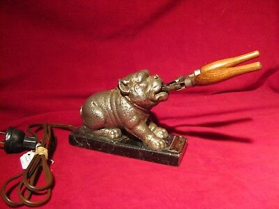 Figural French Bulldog Electric Curling Iron Heater Working w/ Curling Iron