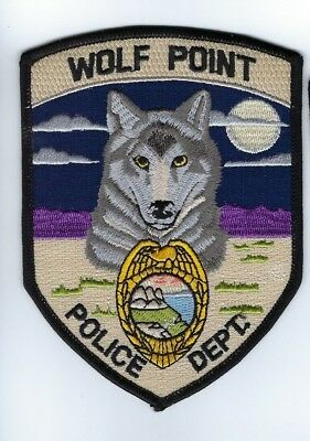 Wolf Point (Roosevelt County) MT Montana Police Dept. patch - NEW!