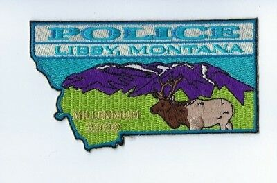 "Libby (Lincoln County) MT Montana Police Dept. ""Millennium 2000"" patch - NEW!"