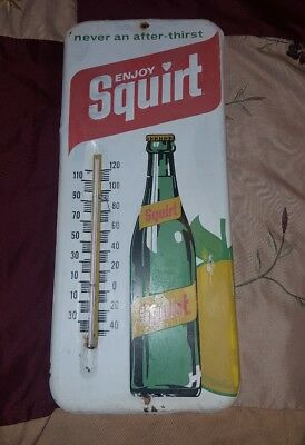 Squirt Metal Thermometer Vintage Sign 1971
