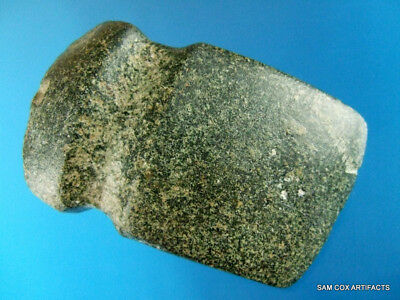 Super Fine Authentic Stylized Illinois 3/4 Groove Hardstone Axe Indian Artifacts