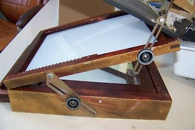 B&J Burke & James Antique Wood Photo Retouching Desk ~ minty ~ REDUCED PRICE