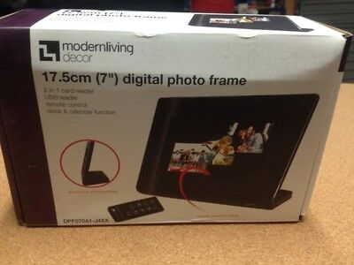 Modern Living Decor 7 inch Digital Photo Frame Brand new in box and never used