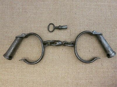 Beautiful Unusual Darby Handcuffs with Unique Key