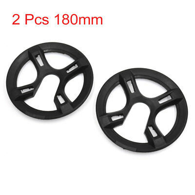 2 Pcs 180mm Dia Black MTB Mountain Bike Bicycle Chain Ring Protective Cover