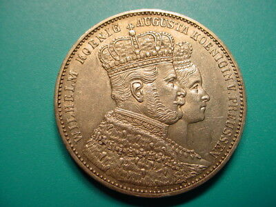 Prussia~Silver 1861-A Thaler in Nice EF Condition!