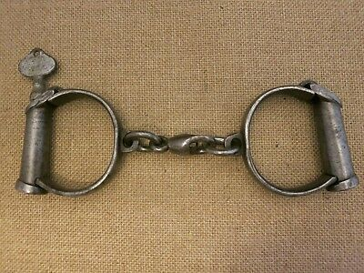 Very Rare Parker Holborn Backstrap Darby Handcuffs with Key
