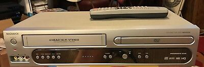 Magnavox MDV560VR Combo DVD/VCR VHS Recorder w Remote Works Great