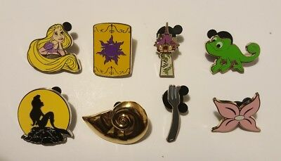 Disney Pins Characters The Little Mermaid Ariel Tangled Rapunzel Set of 8