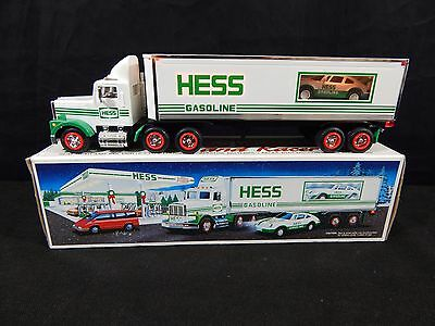 Hess Truck 1992, 18 Wheeler With Racer, Working And In Box Advertising