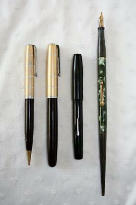 Group Of Antique Waterman Pens Crusader & Ideal U.S. & Canada