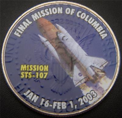 Shuttle STS-107 Final Mission Columbia Commemorative on Kennedy Half Dollar