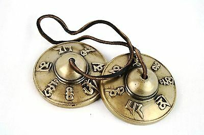 Quality Hand Cast Tingsha/Bell Cymbals Meditation, Healing, Aura & Cleansing Om