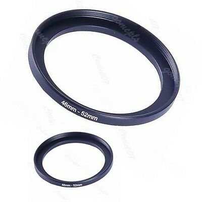NEW Metal 46mm-52mm Step Up Lens Filter Ring 46-52 mm 46 to 52 Stepping Adapter