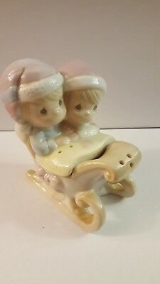 Precious Moments sleigh salt and pepper shakers 1995