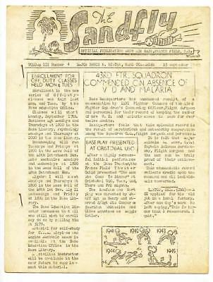 "Usaf Base France Field Panama Canal Zone Orig Ww2 Publ ""the Sandfly"" 1945 Rare"