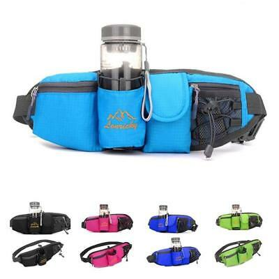 Unisex Running Waist Belt Pack Jogging Sports Water Bottle Waist Bag Holder JA