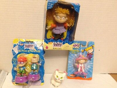Nickelodeon Rugrats Toy Lot, Fluffy, Angelica, Chuckie '97-'00