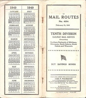 Railway Post Office RPO Mail Service RMS CMStP&P MILW C&NW SOO GN NP MN ND SD WI