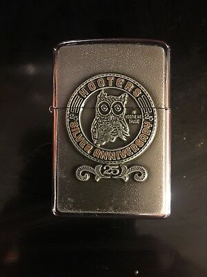 Rare HOOTERS 25th SILVER ANNIVERSARY In Hootie We Trust ZIPPO LIGHTER