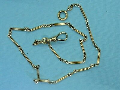 Vintage gold filled VICTORIAN EDWARDIAN ALBERT POCKET WATCH FOB chain SIMMONS