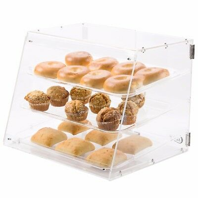Choice 3 Tray Bakery Display Case with Rear Doors PASTRY SELF SERVE DISPLAY CASE