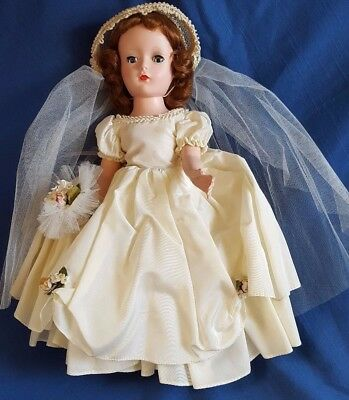 "Vtg Madame Alexander 14"" Wendy Bride HP  #1551 Red Head Orig. Box 1950's"