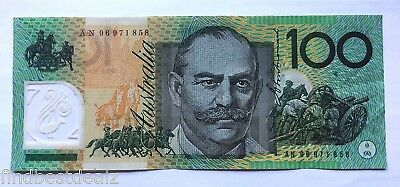 Collectable *an96 First Prefix* $100 Test Note One Hundred Dollar Bank Note Rare
