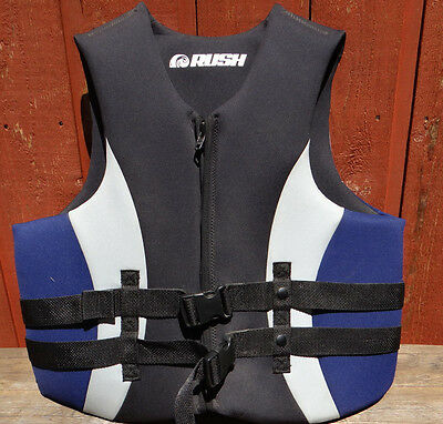 Live Vest by Rush BG300 Blue & Gray Size: XXL  for Chest Size: 114cm to124cm