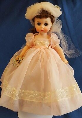 "Vtg Mme Alexander 12"" Doll Lissy Bridesmaid #1161 Multi-Joint Needs Restringing"