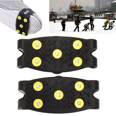 5 Studs Ice Snow Anti-slip Winter Walking Climbing Hiking Skiing Shoes Cover