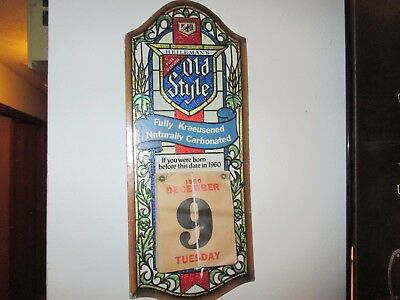Vintage 80/81 Old Style If You Were Born Befrore This Date Beer Sign Unused Rare