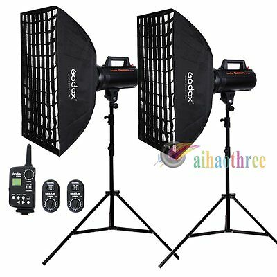 2Pcs Godox GT300 300W High Speed Studio Bowens Mount Flash Softbox Trigger【AU】