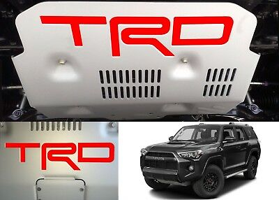 Gloss Red Vinyl TRD Skid Plate Inserts For 2015-2018 Toyota 4Runner New USA